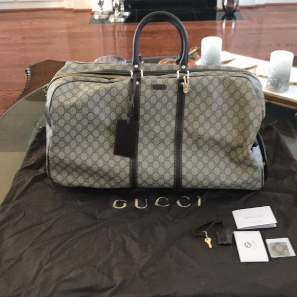 eb71fe4509f2 Gucci Other - Gucci GG Supreme Rolling Duffel Bag With Handle
